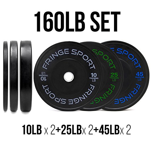 160 Lbs Bumper Plates Set / Virgin Rubber Olympic Weight ...  sc 1 st  GYM READY EQUIPMENT & 160 Lbs Bumper Plates Set / Virgin Rubber Olympic Weight Plates for ...