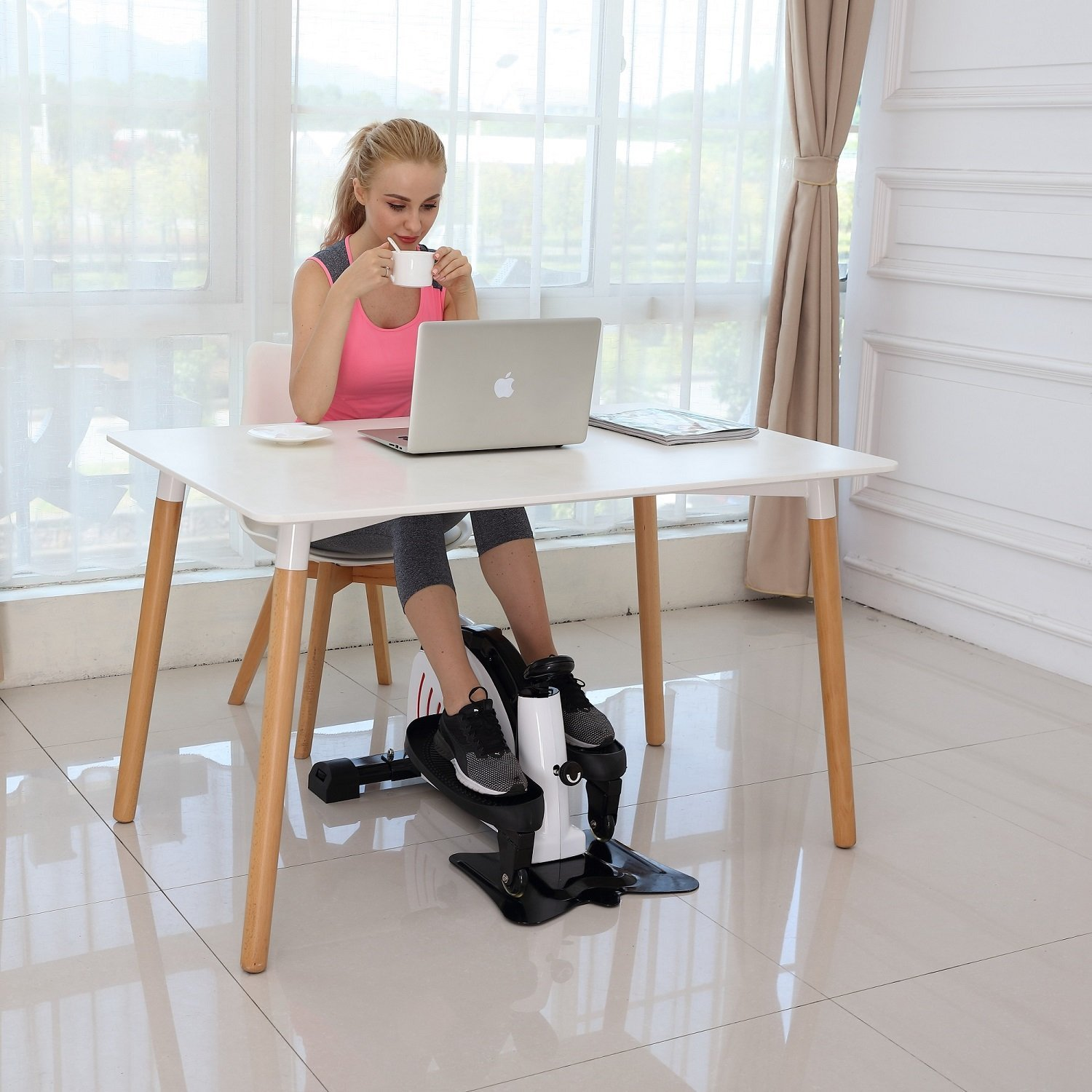 at shipped work desk the under elliptical exercise for provides prime fitdesk