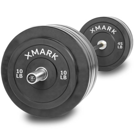 ... VOODOO Commercial Olympic Bar Hard Chrome with Black Manganese Phosphate shaft 185000 PSI and 280 lbs. of XMark Superb Quality Olympic Bumper Plates  sc 1 st  GYM READY EQUIPMENT & 160 Lbs Bumper Plates Set / Virgin Rubber Olympic Weight Plates for ...