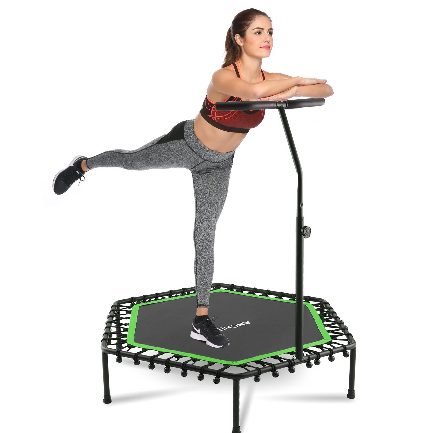 """50"""" Trampoline With Adjustable Handrail"""